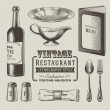 Royalty-Free Stock Vector Image: Vintage restaurant vector