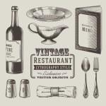 Vintage restaurant vector — Stock Vector #20116349
