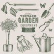 Vintage garden equipment - Stock Vector