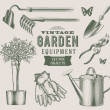 Stock Vector: Vintage garden equipment