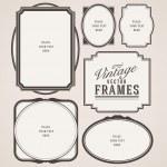 Vintage frames vector — Stock Vector