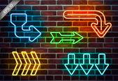Urban neon arrows — Stock Vector