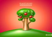 Plasticine tree — Stock Vector