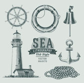 Nautical vector set — Stock Vector