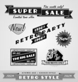 Vintage and retro labels , logo — Stock Vector