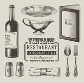 Vintage restaurant vector — Stock Vector