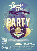 Vintage party label — Stock Vector