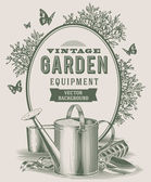 Vintage garden equipment — Stock Vector