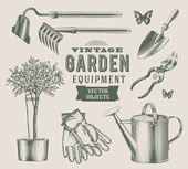 Vintage garden equipment — Vecteur