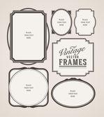 Vector Vintage frames — Vector de stock