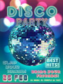 Disco party vector — Stock Vector