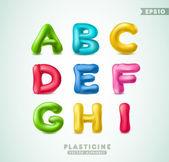 Plasticine alphabet — Stock Vector