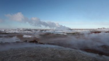 Geothermal Power Station in Iceland (Thermal station) — Stock Video