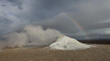 Błoto i steam pole wulkan, islandia — Wideo stockowe