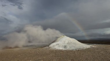 冰岛火山外地泥和蒸汽 — 图库视频影像