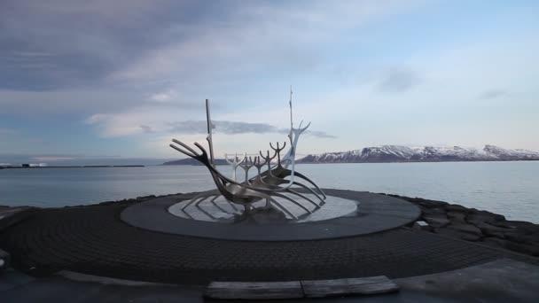 Sun voyager - monument à reykjavik, islande — Vidéo