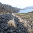 Road on mountain lake in Iceland — Stock Video #38137019