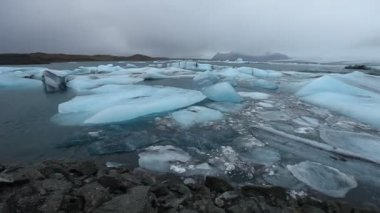 Jokulsalon Glacial lagoon — Stock Video