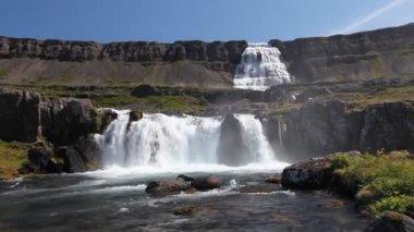 Iceland Dynjandi waterfall — Stock Video