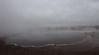 Boue et vapeur champ volcanique, islande — Vidéo