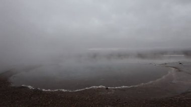 Mud and steam volcano field, Iceland — Stock Video