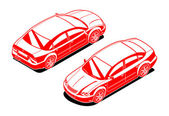 Isometric image of a car — Stock Vector