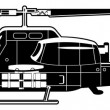 Stock Vector: Attack helicopter