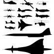Aircrafts — Stock Vector