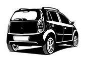 Illustration of car — Vettoriale Stock