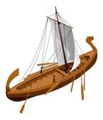 Old slavic ship — ストックベクタ