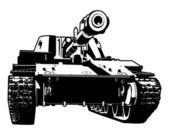 Heavy tank — Stock Vector