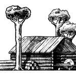 Sawmill — Stock Vector #50676337