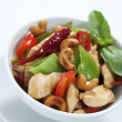 Chicken cashew nuts - Stock Photo
