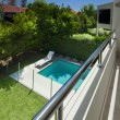 Swimming pool view from balcony — Stock Photo