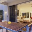 Stock Photo: Modern backyard and living room