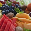 Fruit platter close-up — 图库照片