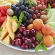 Summer fruit platter wide — Stock Photo