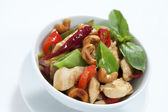 Chicken cashew nuts — Stock Photo