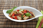 Chicken cashew nuts horizontal — Stock Photo