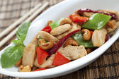 Chicken cashew nuts close up — Stock Photo