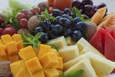 Close-up bandeja de frutas — Foto Stock