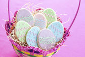 Easter egg cookies — Stock Photo