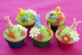 Easter themed cupcakes — Stock Photo