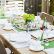 Outdoor table setting — Foto Stock