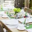 Outdoor table setting — Foto de Stock