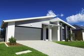 Casa de subúrbio australiana — Foto Stock