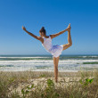 Yoga on the beach series — Stock Photo