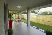 现代的后院 — 图库照片