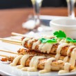 Chicken skewers — Stock Photo