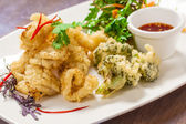 Deep fried squid — Stock Photo